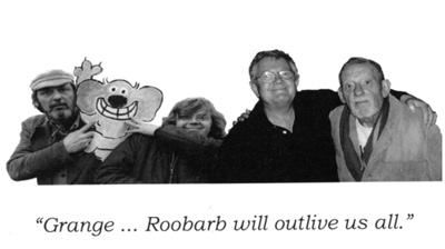 grange calveley and bob godfrey roobarb and custard days bw photo